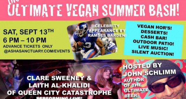 asha sanctuary presents 'the ultimate vegan summer bash!