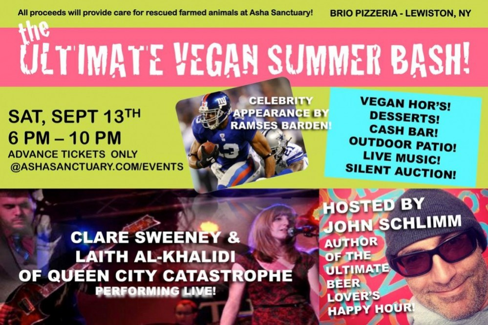 asha sanctuary presents 'the ultimate vegan summer bash!""