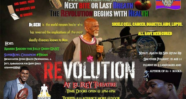 Health Revolution Festival - Next Bite or LAST Breath - Sunday MARCH 1st, 2015